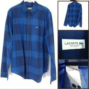 Lacoste Men's Casual Long Sleeve Button Down Shirt